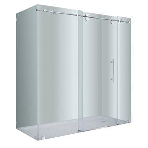 Turin Vertiges Shower Door (10 mm) 36-in x 72-in - Chrome