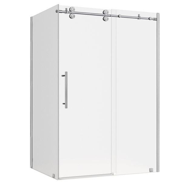Turin Vertiges Shower Door (10 mm) 36-in x 48-in - Nickel