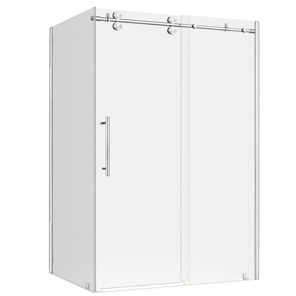 Turin Vertiges Shower Door (10 mm) 36-in x 48-in - Chrome
