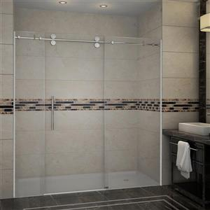 Turin Horizon Shower Door (10 mm) 72-in - Chrome
