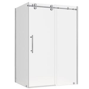 Turin Vertiges Shower Door (10 mm) 32-in x 48-in - Nickel