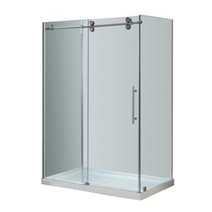 "Turin Porte de douche Vertiges  (10 mm) 32"" x 48"" - Nickel"