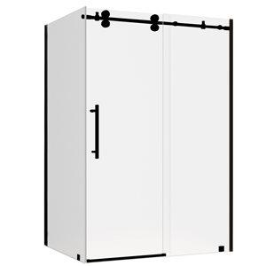Turin Vertiges Shower Door (10 mm) 36-in x 48-in - Black