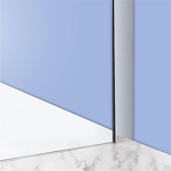 Turin Vertiges Shower Door (10 mm) 32-in x 60-in - Chrome