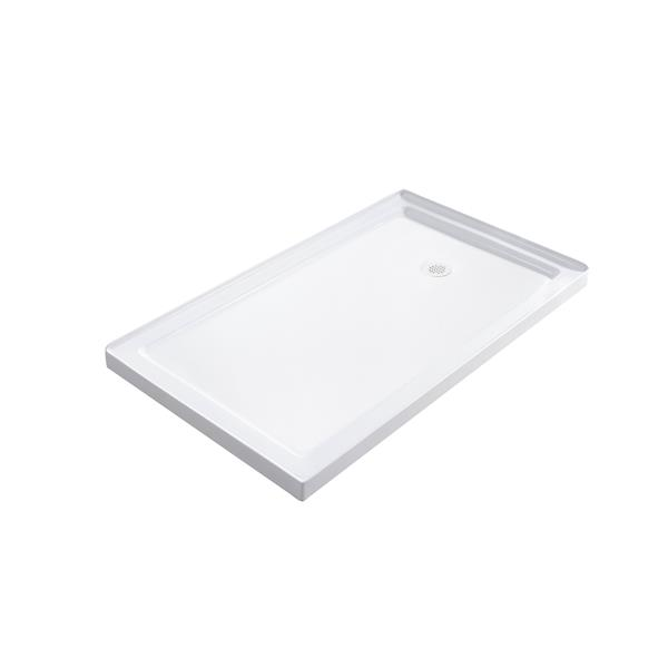 Turin Horizon Shower Base - Right Drain  -White - 32-in x 48-in