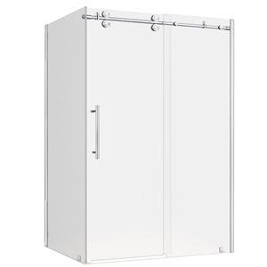 Turin Vertiges Shower Door (10 mm) 32-in x 48-in - Chrome