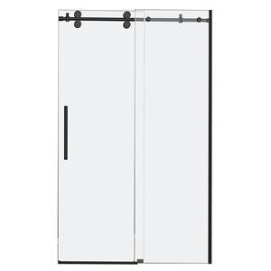Turin Horizon Shower Door (10 mm) 48-in - Black