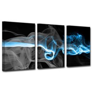Ready2HangArt Wall Art Glitzy Mist-in Canvas 3-Panel Set - 18-in x 36-in