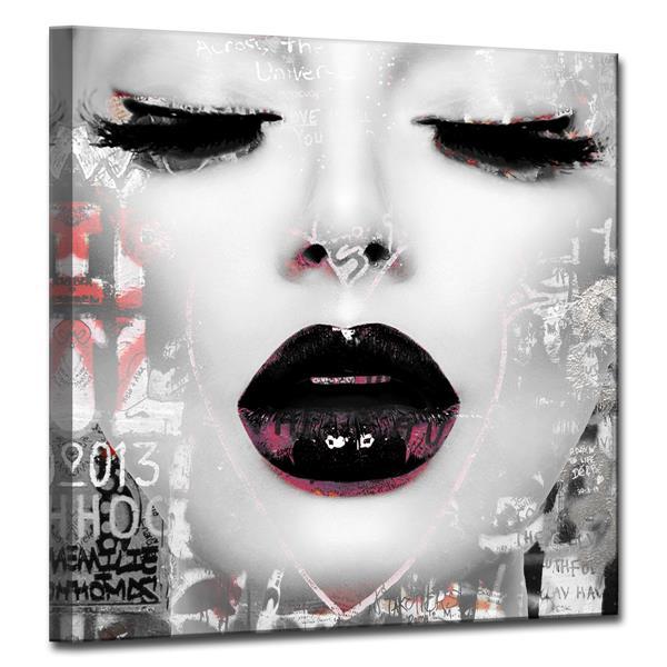 Ready2HangArt Wall Art Urban Fashion Lady Canvas 20-in x 20-in - Gray