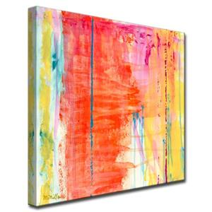 Ready2HangArt Wall Art Abstract Translucent Colorful Canvas 40-in x 40-in