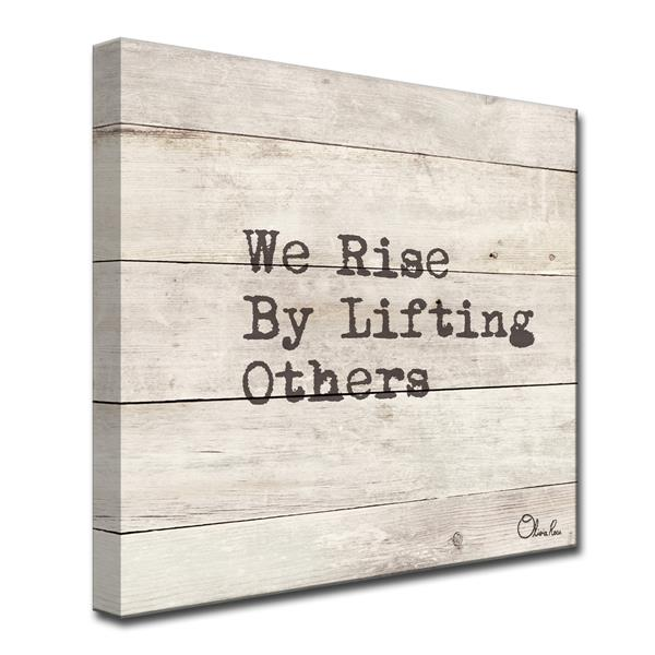 Ready2HangArt Wall Art Inspirational Quote Canvas 20-in x 20-in - Brown