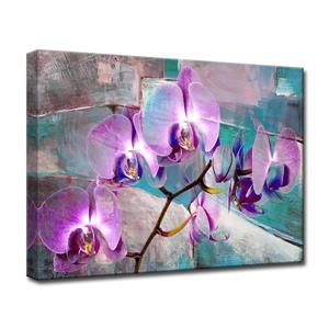 Ready2HangArt Wall Art Abstract Orchid Petals Canvas 20-in x 30-in- Purple