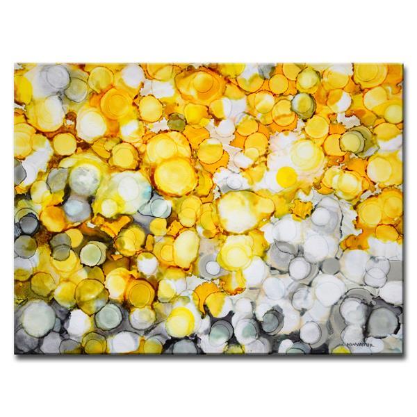 Ready2HangArt Wall Art Mermaid Gold Pearls Canvas 20-in x 30-in - Yellow