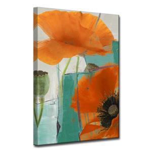 Ready2HangArt Wall Art Abstract Petals Canvas 30-in x 20-in - Orange