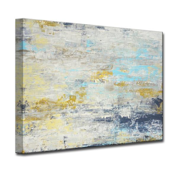 Ready2HangArt Wall Art Surf and Sound Canvas 20-in x 30-in- White and Blue