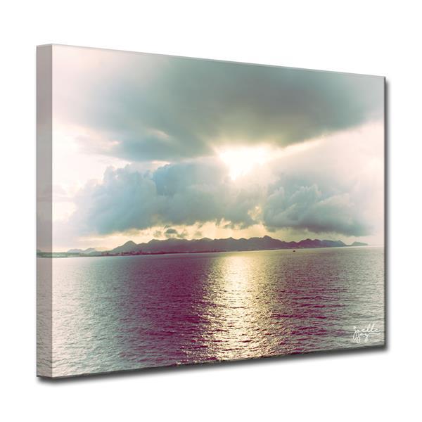 Ready2HangArt Wall Art Sea Lanscape Canvas 20-in x 30-in - Gray