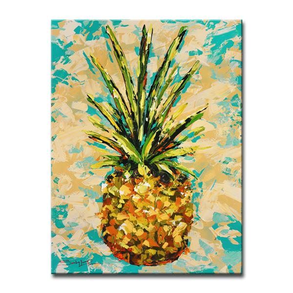 Ready2HangArt Wall Art Fiesta Pineapple Canvas 30-in x 20-in - Yellow