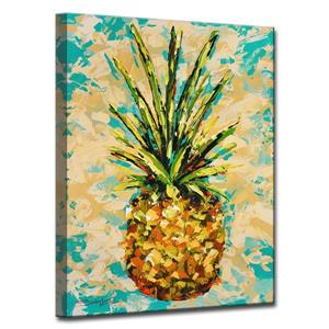 Ready2HangArt Wall Art Fiesta Pineapple Canvas 30-in x 20-in - Yellow