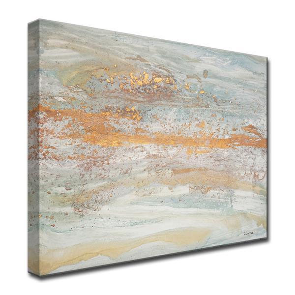 Ready2HangArt Wall Art Flecks of Gold Canvas 20-in x 30-in - Gray