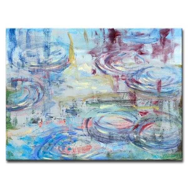 Ready2HangArt Wall Art Raindrops Canvas 20-in x 30-in - Blue