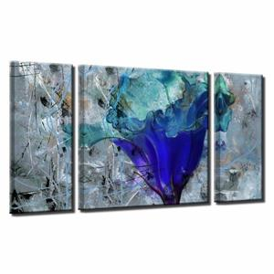 Ready2HangArt Wall Art Abstract Petals Canvas 3-Panel Set - 30-in x 54-in