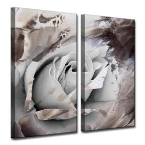 Ready2HangArt Wall Art Abstract Petals - 2-Panel Set 24-in x 24-in - Gray