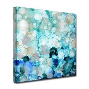 Ready2HangArt Wall Art Mermaid Pearls Canvas 20-in x 20-in - Blue