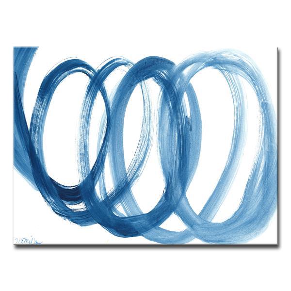 Ready2HangArt Wall Art Blue Swirl Canvas 20-in x 30-in - Blue