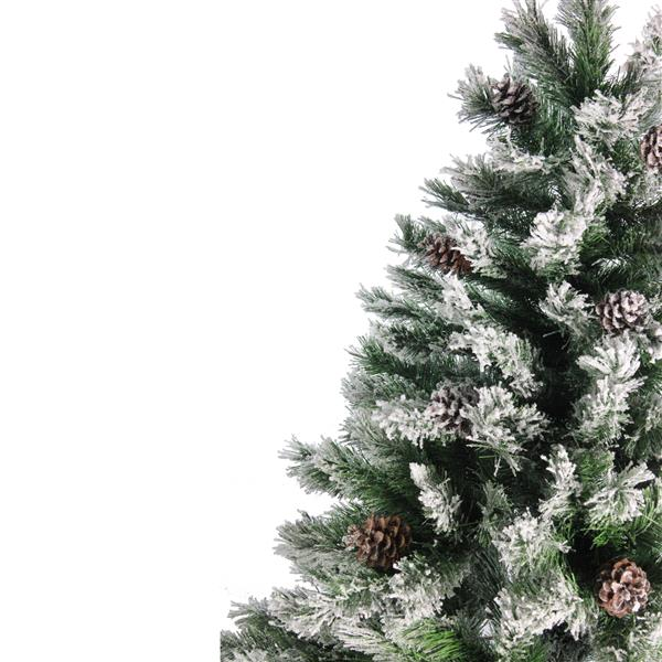 Northlight Artificial Christmas Tree - Pine with Cones and Snow - 6' - Unlit - Green