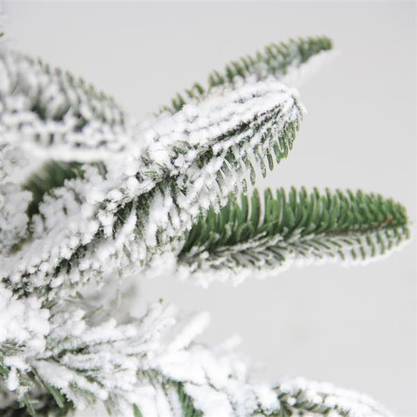 Northlight Noble Fir Artificial Christmas Tree - Integrated Snow - 7.5' - Unlit - Green