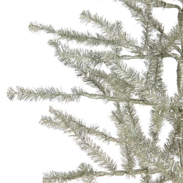 Northlight Tinsel Twig Artificial Christmas Tree - 5' - Unlit - Silver