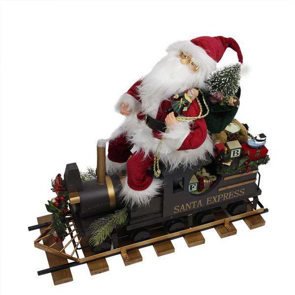 """Northlight Dcorative Santa Claus with Santa Express Wagon - 22"""""""