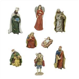 "Northlight Inspirational Christmas Nativity Figurines - 8-Piece Set - 12.25"""