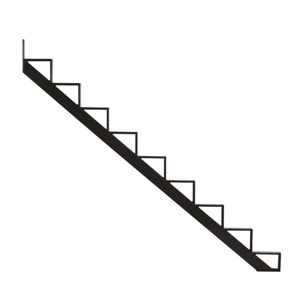 Pylex - 9-Steps Alu Stair Riser Black-7 1/2-in x 9 1/16-in -1 riser only
