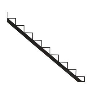 Pylex - 9-Steps Alu Stair Riser Black-7 1/2-in x 9 1/16-in -1 riser only