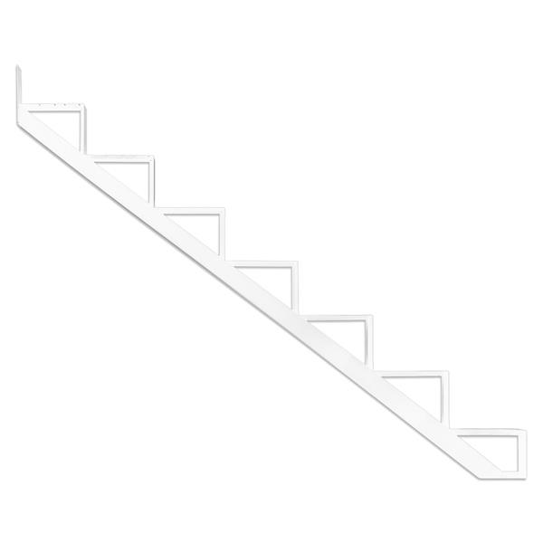 Pylex - 7-Steps Alu Stair Riser White-7 1/2-in x 9 1/16-in -1 riser only
