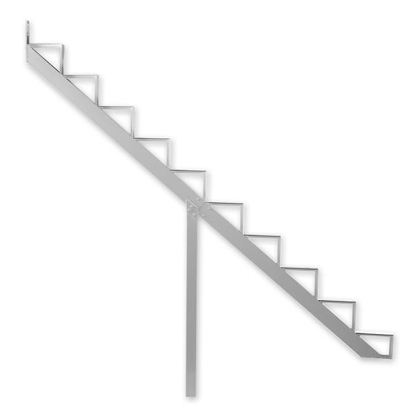 Pylex - 10-Steps Alu Stair Riser White-7 1/2-in x 9 1/16-in -1 riser only
