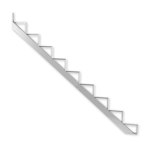 Pylex - 9-Steps Alu Stair Riser White-7 1/2''x9 1/16''-1 riser only