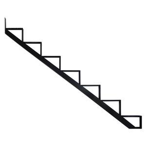 Pylex - 7-Steps Alu Stair Riser Black-7 1/2-in x 9 1/16-in -1 riser only