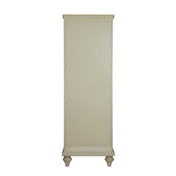 Armoire à linges Fairchild de Foremost pour salle de bain, blanc antique, 18 po