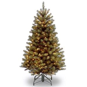 North Valley® Spruce Christmas Tree with Clear Lights - 4.5-ft - Green
