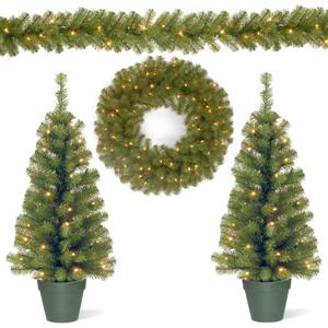National Tree Co. Christmas Assortment with Battery Operated LED Lights