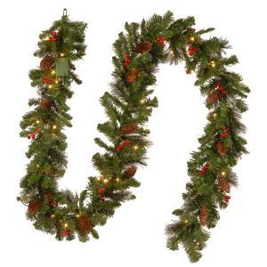 Guirlande en épinette National Tree Co. lumières à DEL Crestwood®, 9', verte