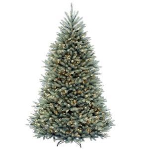 Sapin de Noël avec lumières claires Dunhill(MD), 7,5 pi, bleu