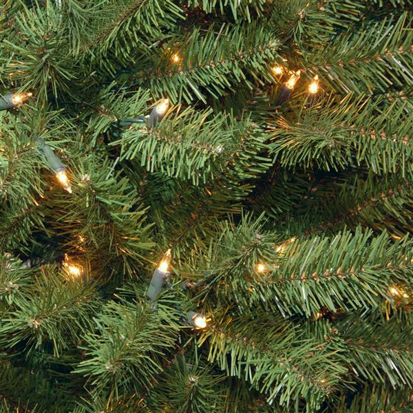 North Valley® Spruce Christmas Tree with Clear Lights - 9-ft - Green