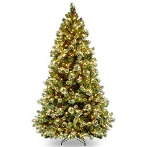 Wintry Pine Christmas Tree with Clear Lights - 7.5-ft  - Medium