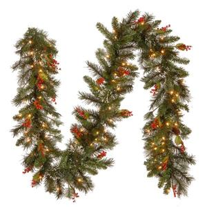 National Tree Co. Wintry Pine Garland with Clear Lights - 9' - Green