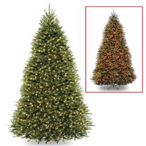 Dunhill® Fir Christmas Tree with Coloured LED Lights - 9-ft - Green