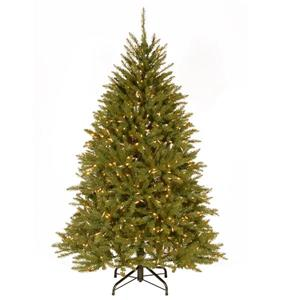 Dunhill® Fir Christmas Tree with Clear Lights - 6-ft - Green