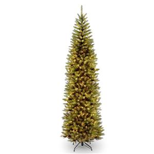 Kingswood® Fir Pencil Christmas Tree with Clear Lights - 9-ft - Green